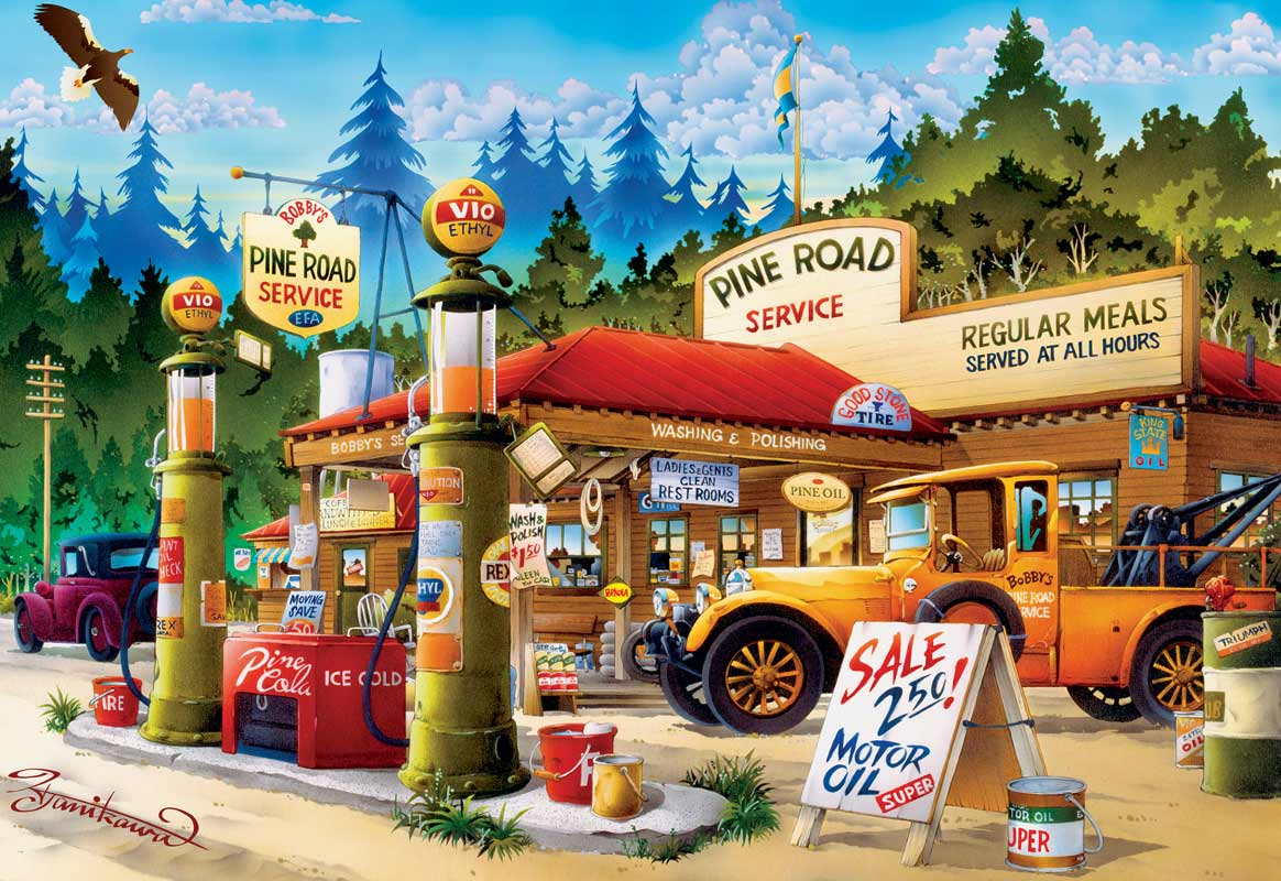 Pine Road Service Jigsaw Puzzle