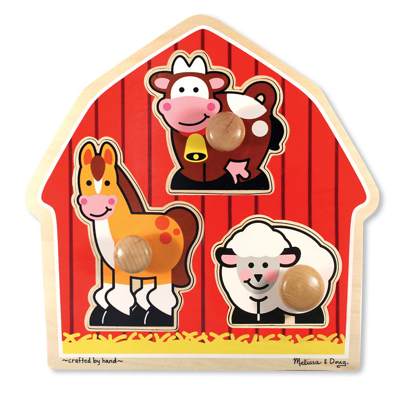 Barnyard Animals Jumbo Knob Farm Animals Children's Puzzles