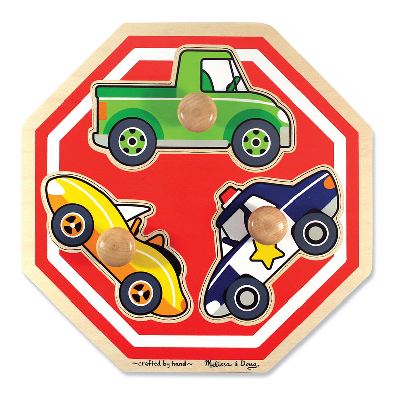 Stop Sign Jumbo Knob Vehicles Children's Puzzles