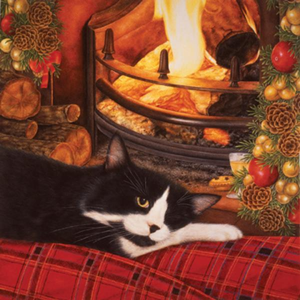Fireside Cats Jigsaw Puzzle