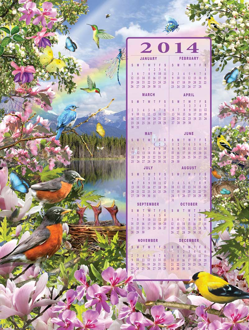 Time's Pieces - Spring Birds Jigsaw Puzzle