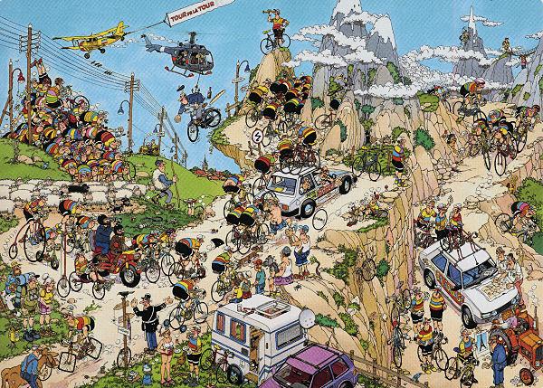 Tour De France - 1,500 Cartoons Jigsaw Puzzle