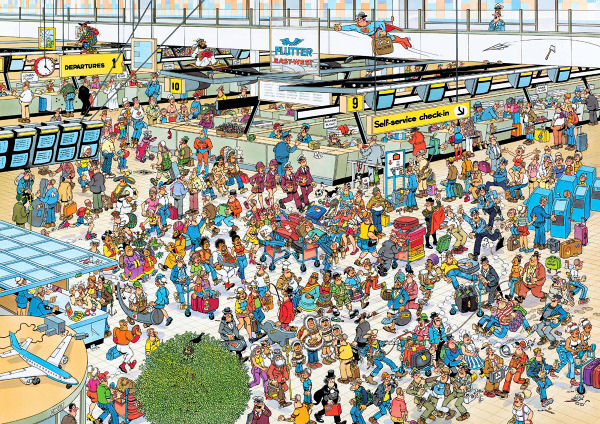 Departure Hall - 2,000 Cartoons Jigsaw Puzzle