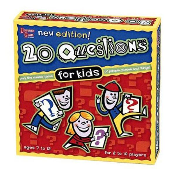 Twenty Questions Kids Card Game