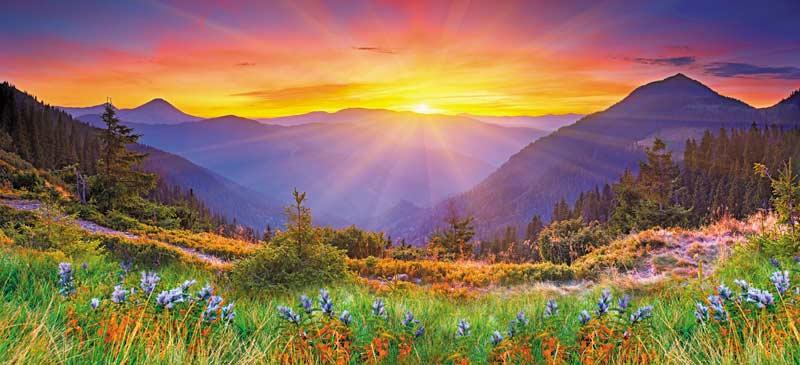 Majestic Sunset Jigsaw Puzzle Puzzlewarehouse Com