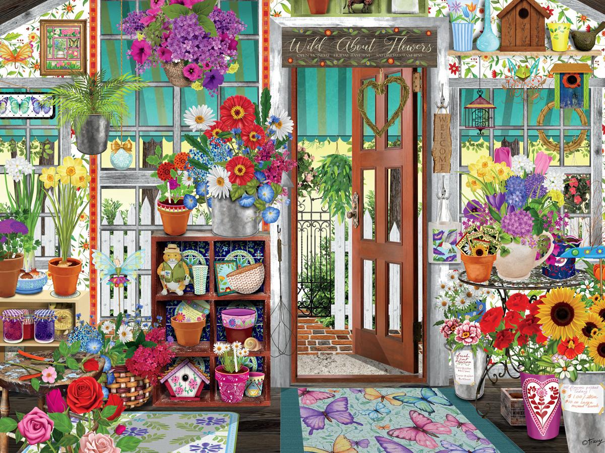 Flower Shop Flowers Jigsaw Puzzle