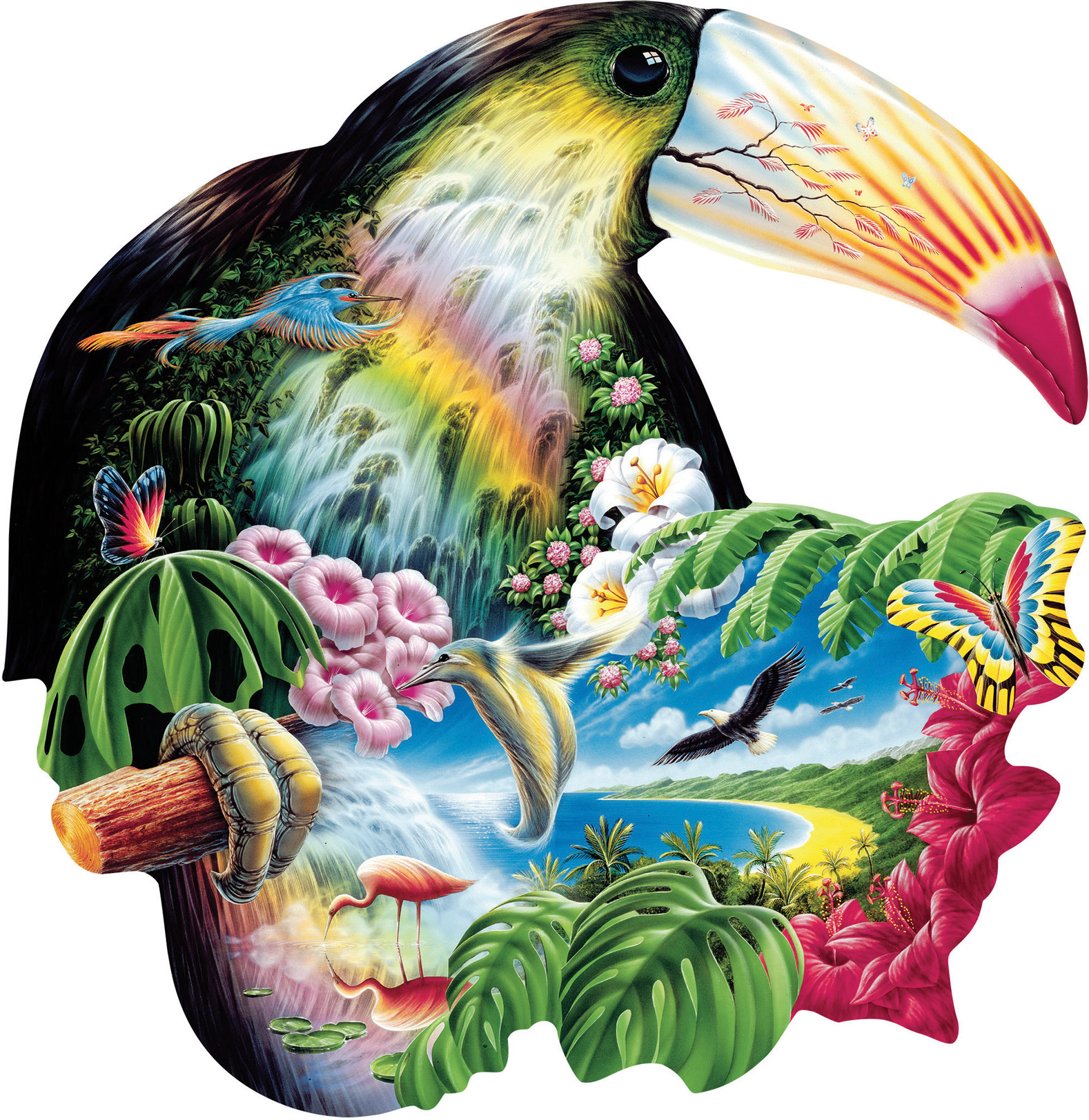 Toucan Birds Shaped Puzzle