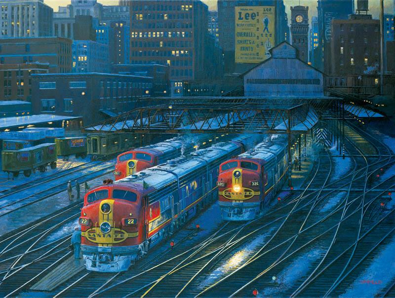 Dearborn Departure Trains Jigsaw Puzzle