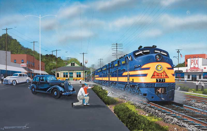 Evergreen Arrival/Departure Trains Jigsaw Puzzle