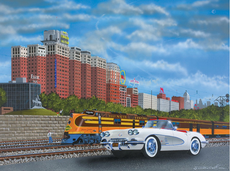Chicago Days Cars Jigsaw Puzzle
