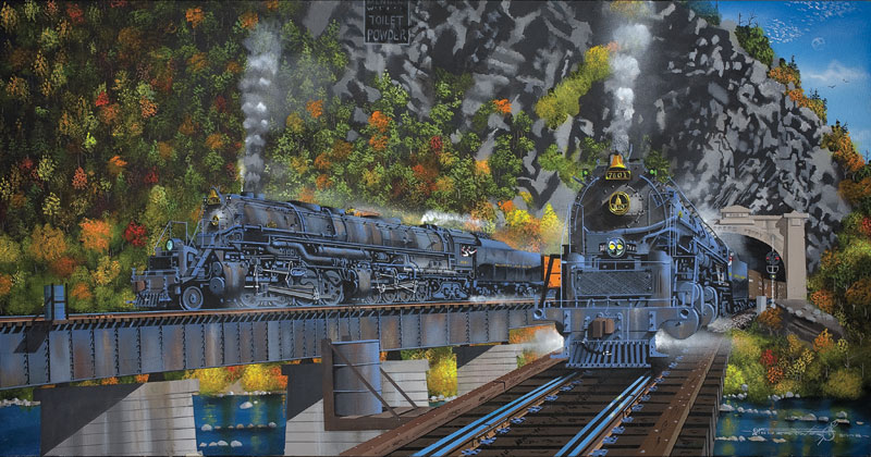 Encounter at Harper's Ferry Trains Jigsaw Puzzle
