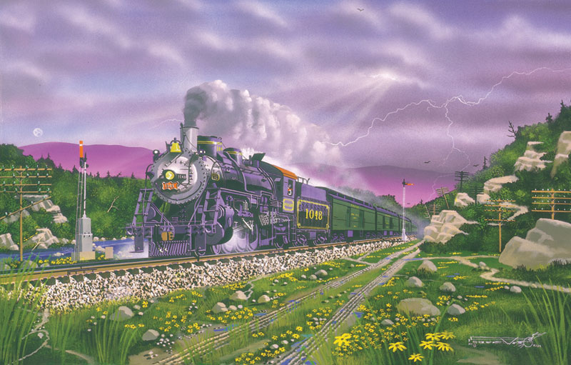 Thunder in the Ozarks Trains Jigsaw Puzzle