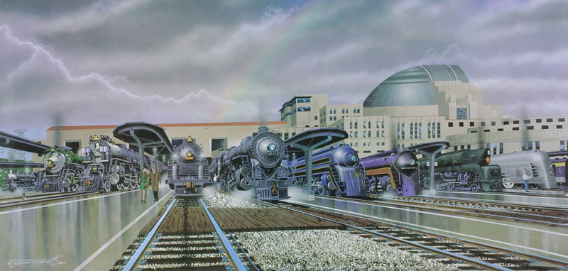 Cincinnati's Glory Girls Trains Jigsaw Puzzle