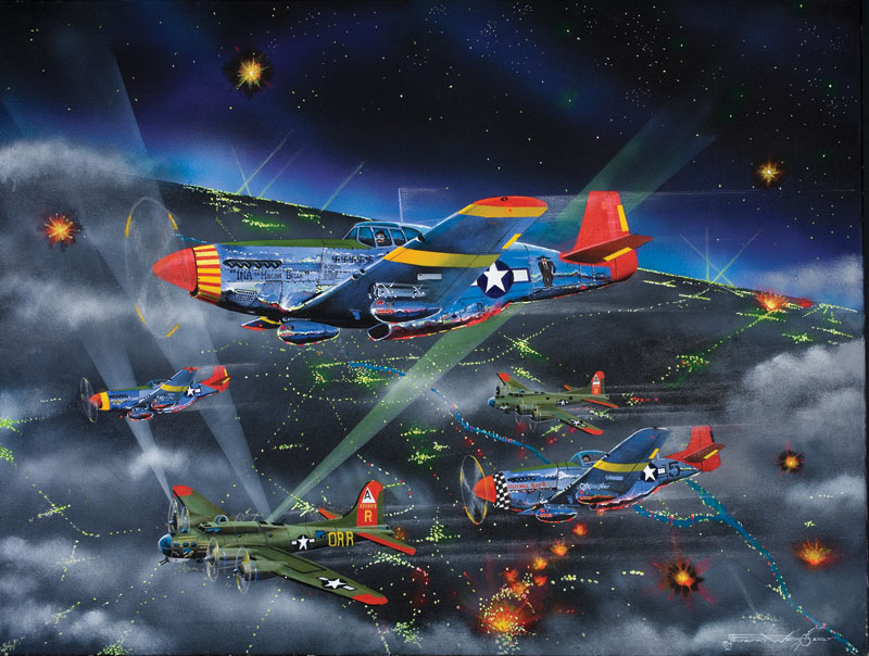 Night Fighters-The Tuskagee Airmen Patriotic Jigsaw Puzzle