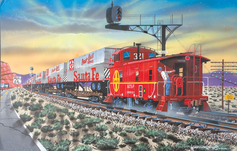 Red Signals & Dust Trains Jigsaw Puzzle