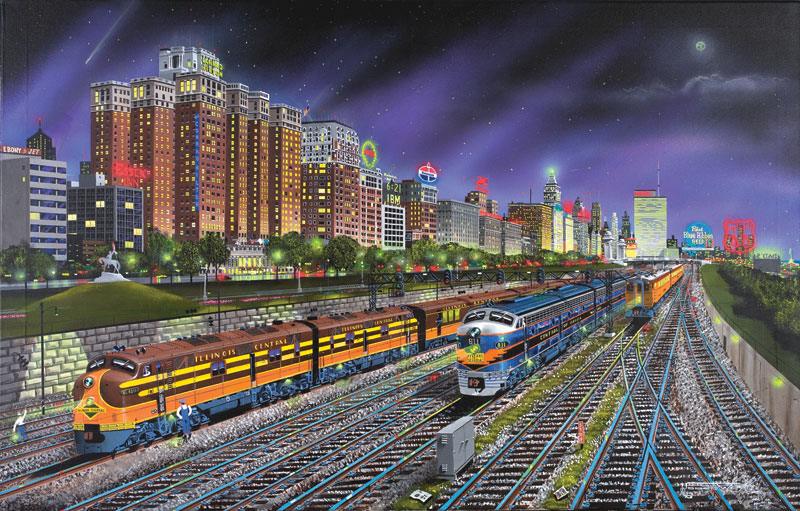 Chicago Nights Chicago Jigsaw Puzzle