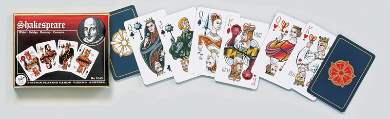 Shakespeare, Double Deck Famous People Playing Cards