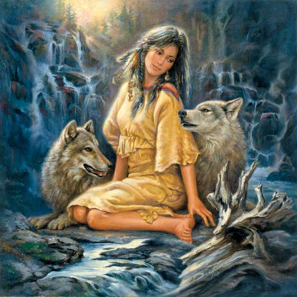 Loyal Companions Native American Jigsaw Puzzle
