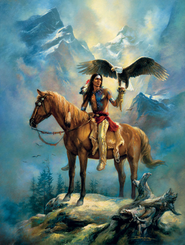 Valley of the Eagles Horses Jigsaw Puzzle