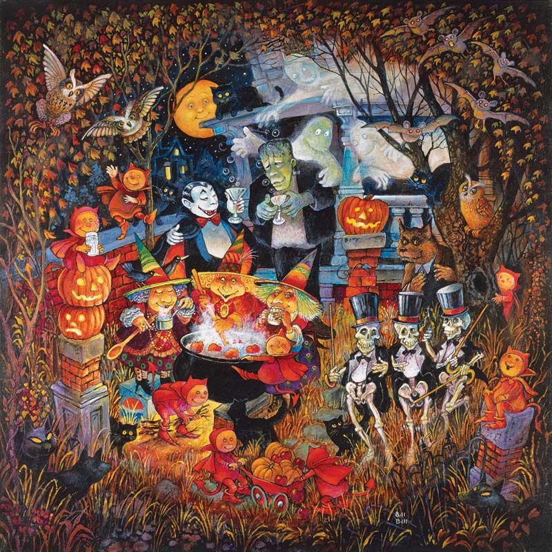 Monsters Night Out - Scratch and Dent Fall Jigsaw Puzzle