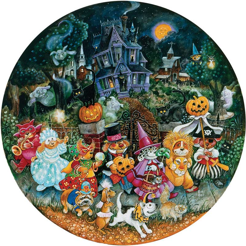 Howl-o-ween Dogs Dogs Jigsaw Puzzle