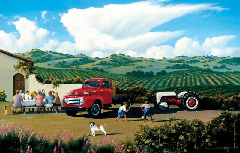 Vineyard Countryside Jigsaw Puzzle
