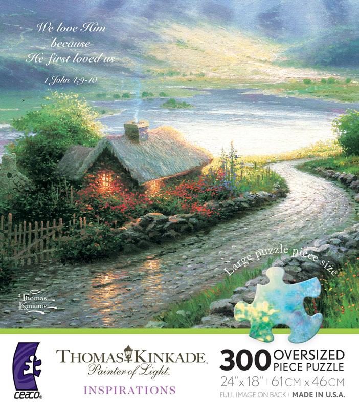 Emerald Isle Cottage Countryside Jigsaw Puzzle