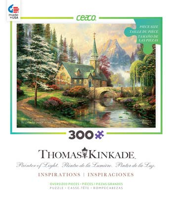 Dogwood Chapel (Thomas Kinkade Inspirations) - Scratch and Dent Religious Jigsaw Puzzle