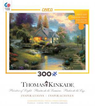 Spring at Creekside Cottage (Thomas Kinkade Inspirations) Inspirational Jigsaw Puzzle