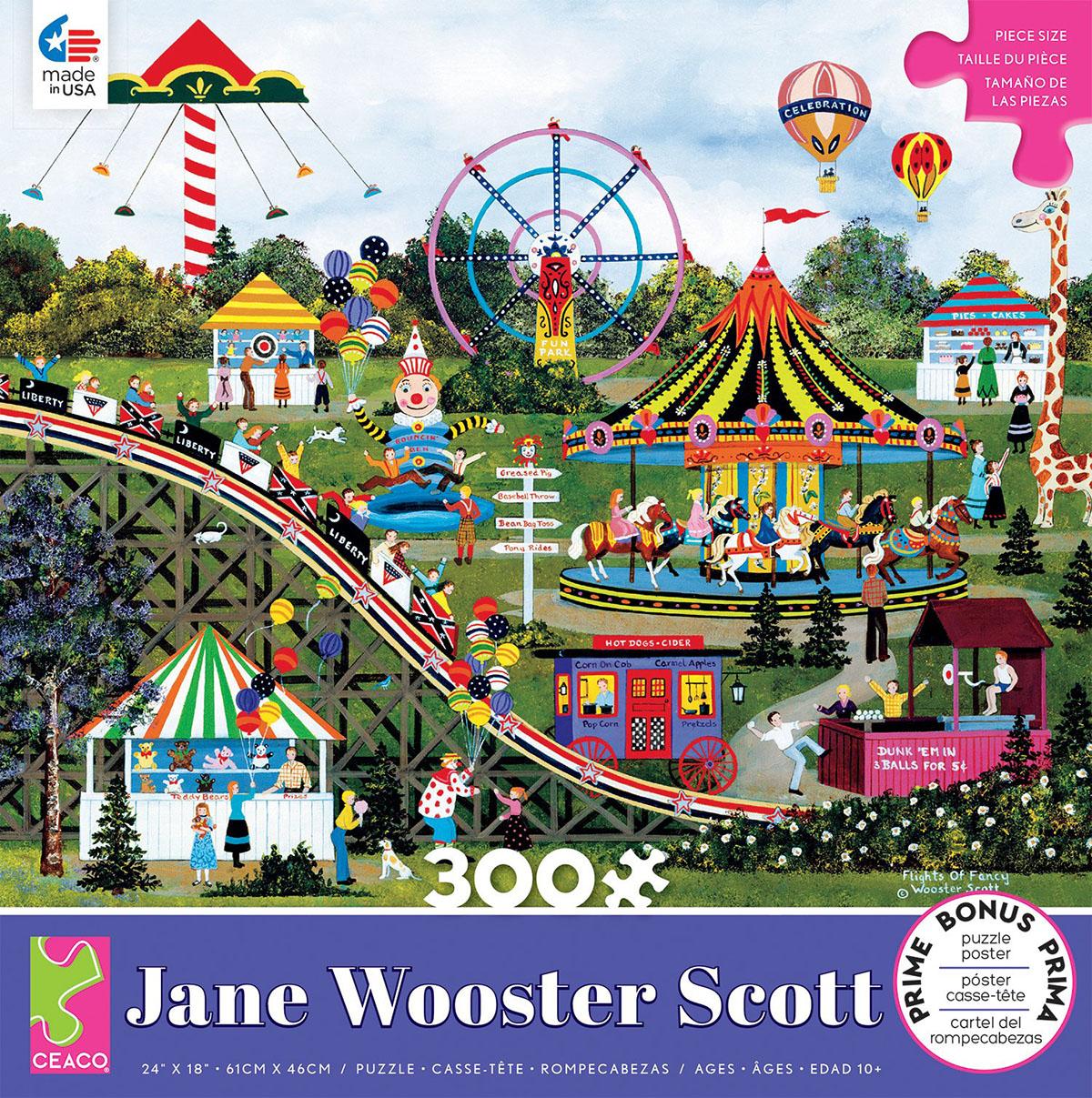 Flights of Fancy (Jane Wooster Scott) Americana & Folk Art Jigsaw Puzzle