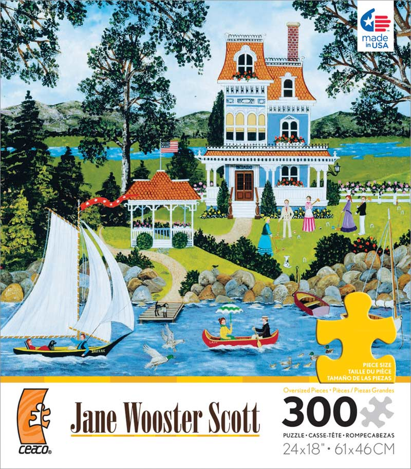 Lakeside Potpourri Boats Jigsaw Puzzle
