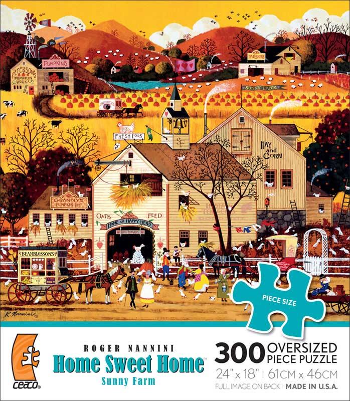 Sunny Farm Halloween Jigsaw Puzzle