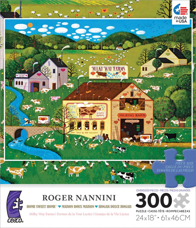 Milky Way Farms Folk Art Jigsaw Puzzle