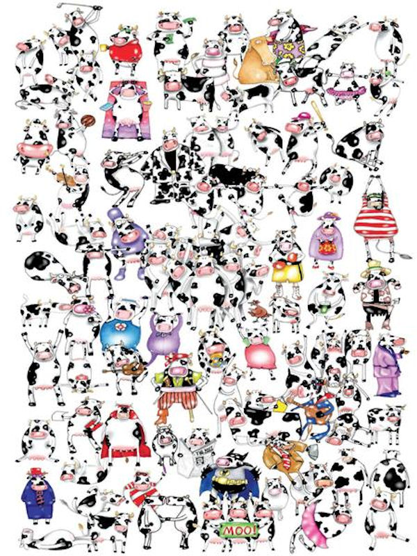 One Hundred Cows And A Chicken Jigsaw Puzzle