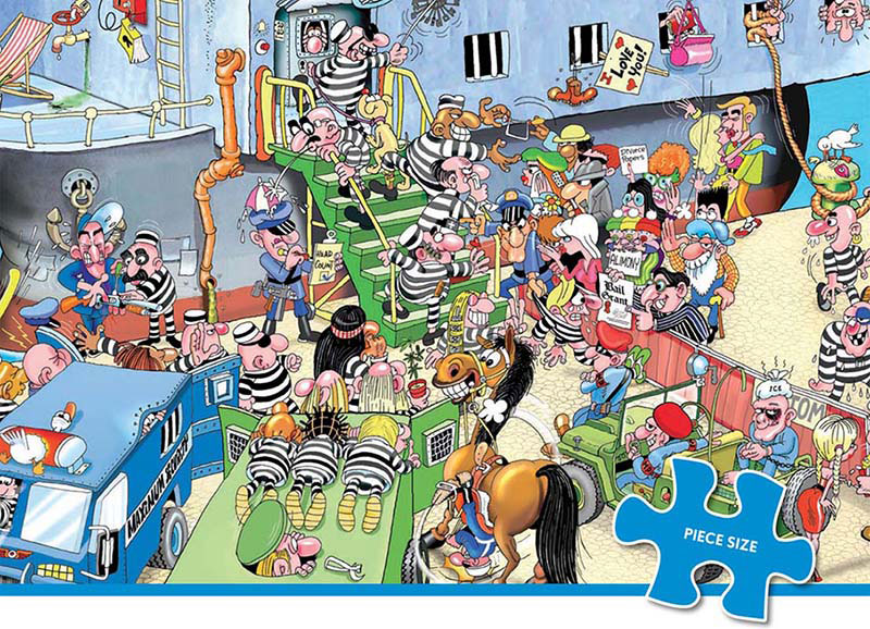 Comic Relief - The Great Escape Cartoons Jigsaw Puzzle