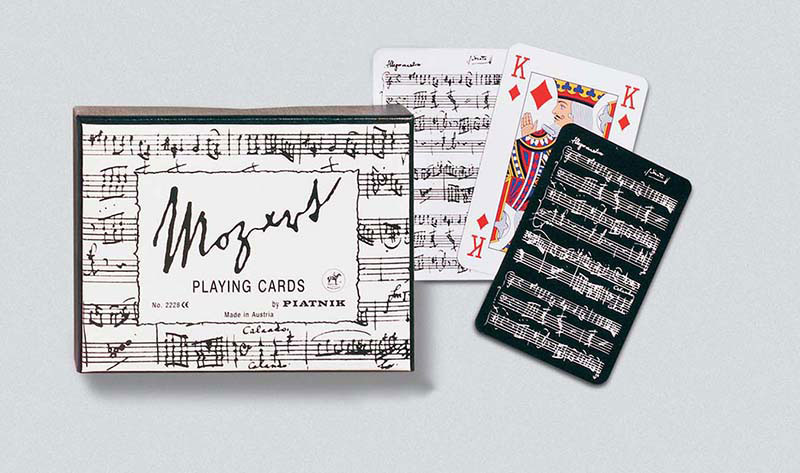 Mozart, Double Deck Music Playing Cards