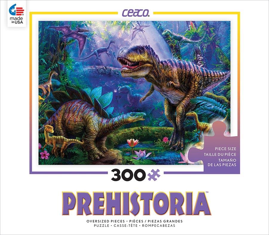 Dino Jungles (Prehistoria) - Scratch and Dent Dinosaurs Jigsaw Puzzle
