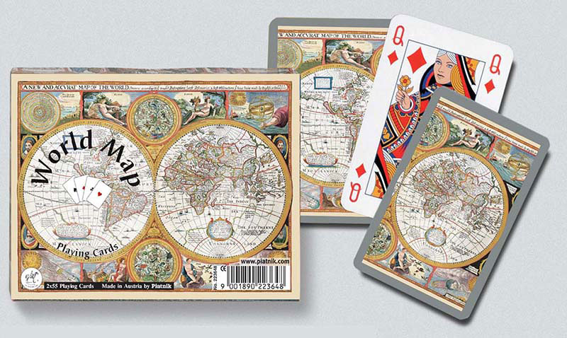 World Map, Double Deck Maps