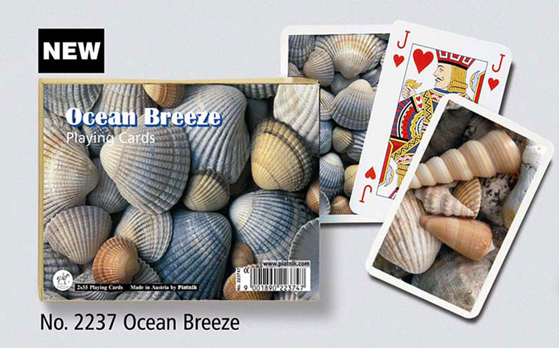 Ocean Breeze, Double Deck Beach Playing Cards