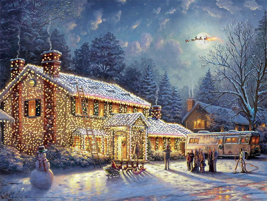National Lampoon's Christmas Vacation (Thomas Kinkade Holiday Movies) Movies / Books / TV Jigsaw Puzzle