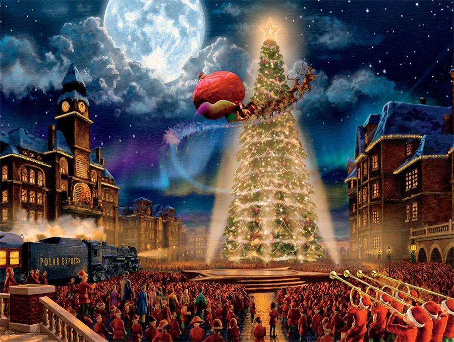 The Polar Express (Thomas Kinkade Holiday Movies) Movies / Books / TV Jigsaw Puzzle