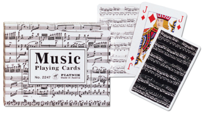 Music, Double Deck Music Playing Cards