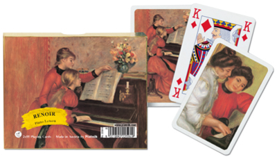Renoir- Piano Lesson, Double Deck Impressionism Playing Cards