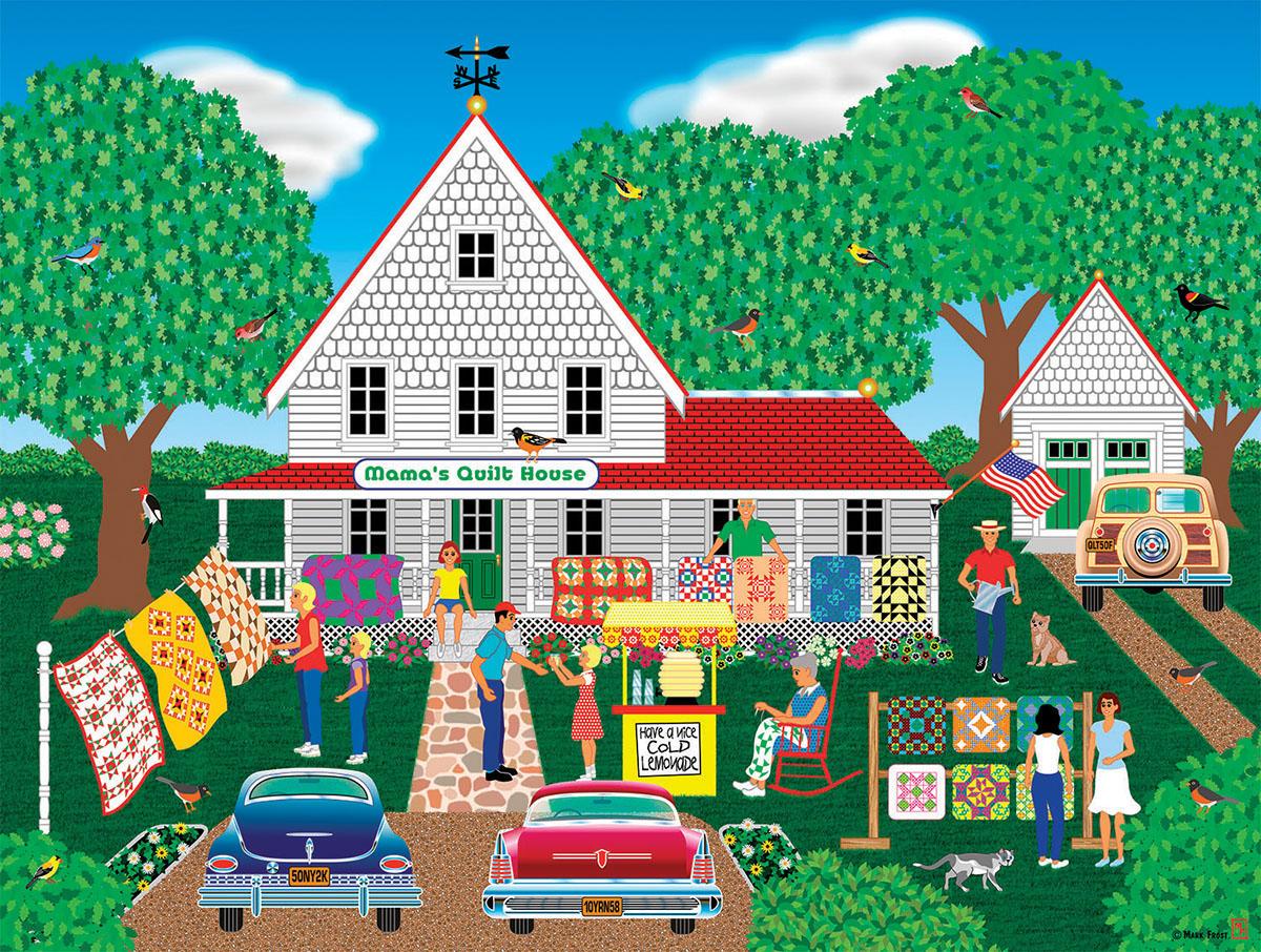 Mama's Quilt House Farm Jigsaw Puzzle