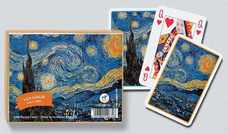 Starry Night, Double Deck Van Gogh Starry Night Playing Cards