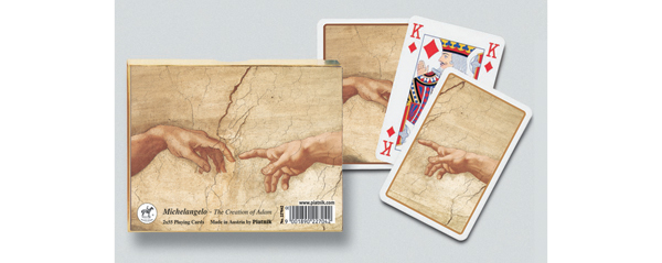 Creation of Adam, Double Deck Renaissance Playing Cards