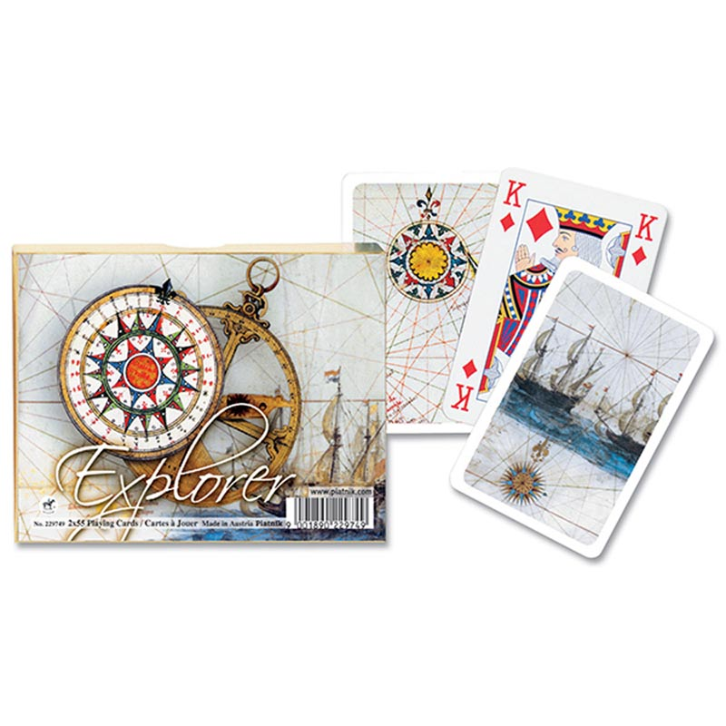 Explorer, Double Deck Boats Playing Cards