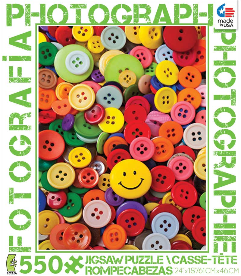 Buttons (Photography) - Scratch and Dent Everyday Objects Jigsaw Puzzle