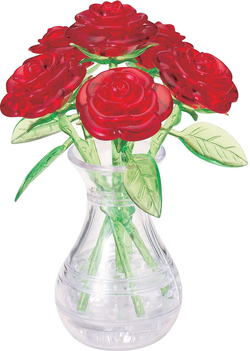 Roses in a Vase Flowers 3D Puzzle