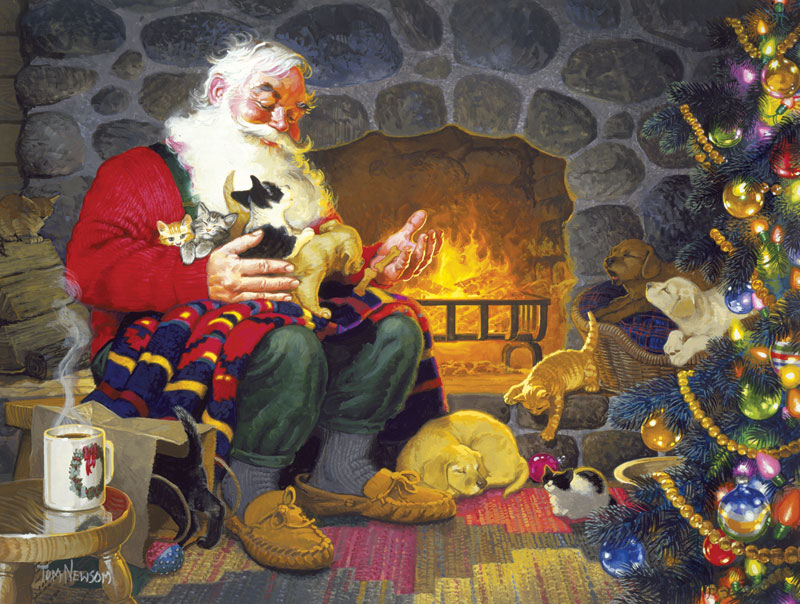 Santa's Pet Palace Christmas Jigsaw Puzzle